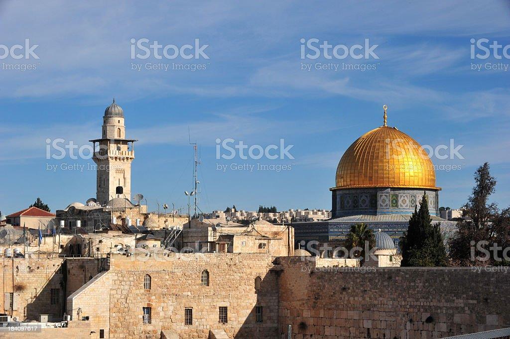 Dome of the Rock Jerusalem royalty-free stock photo