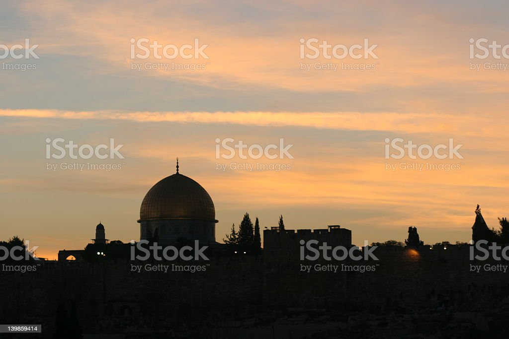 Dome Of the Rock, Jerusalem,Israel royalty-free stock photo