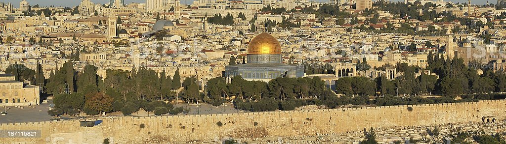 Dome of the Rock, main mosque on Jerusalem's royalty-free stock photo