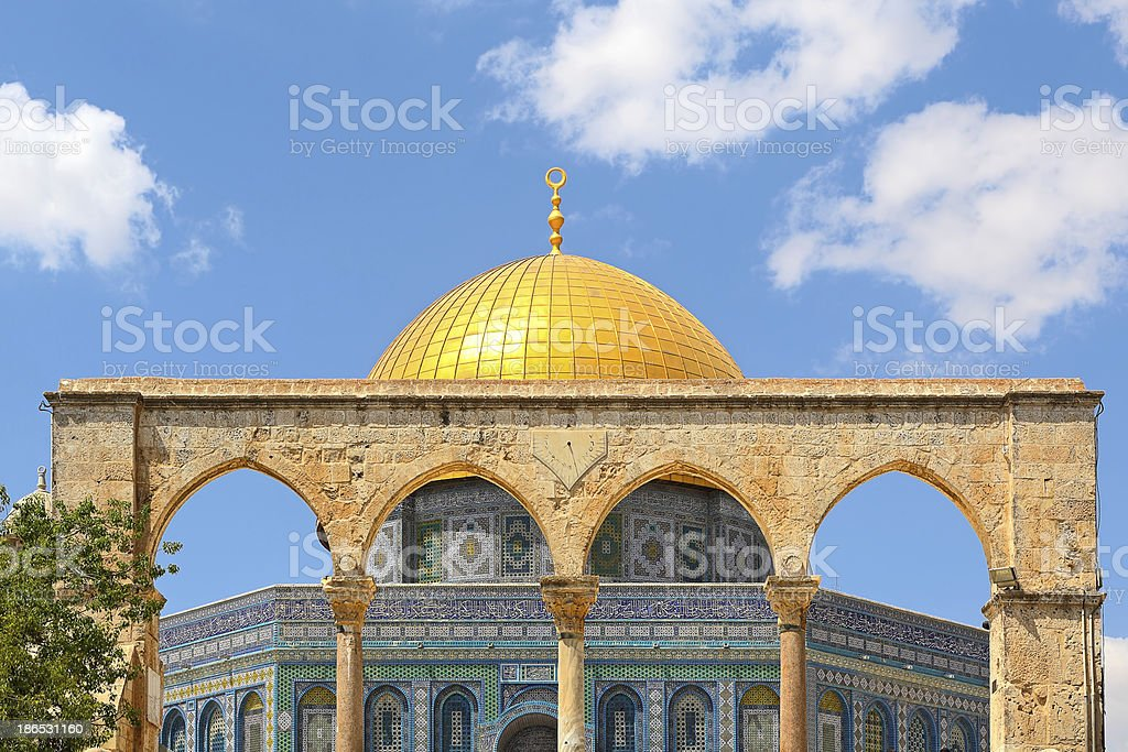 Dome of the Rock mosque in Jerusalem, Israel. royalty-free stock photo