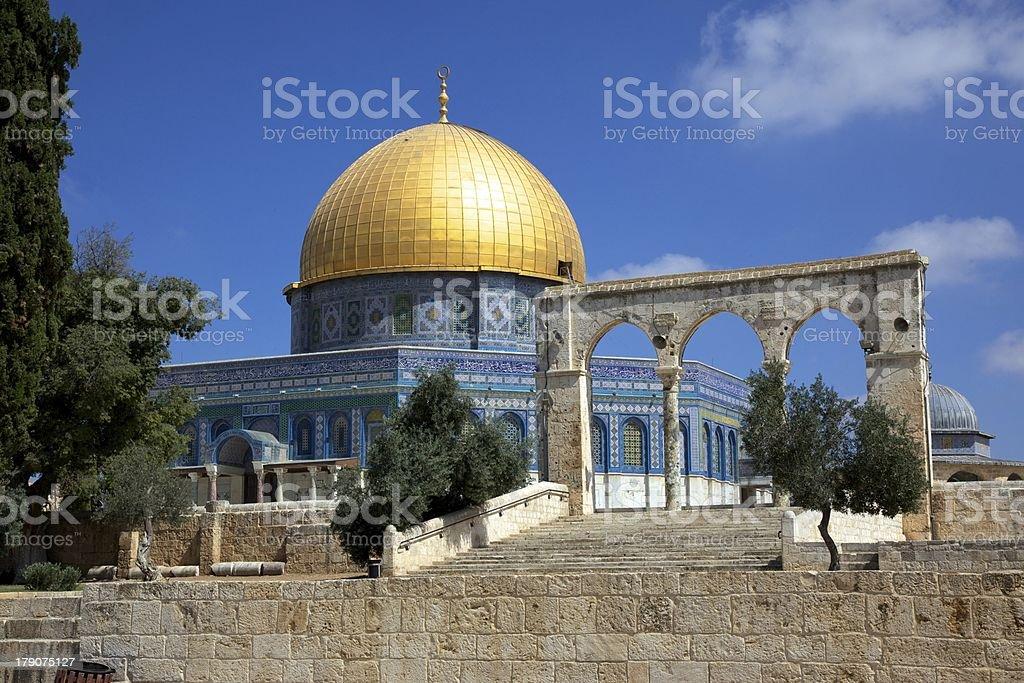 Dome of the Rock (Qubbat al-Sakhrah) royalty-free stock photo