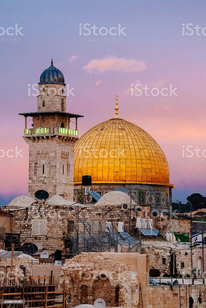 Dome of the Rock, Qubbat Al-Sakhrah, Jerusalem, Israel stock photo