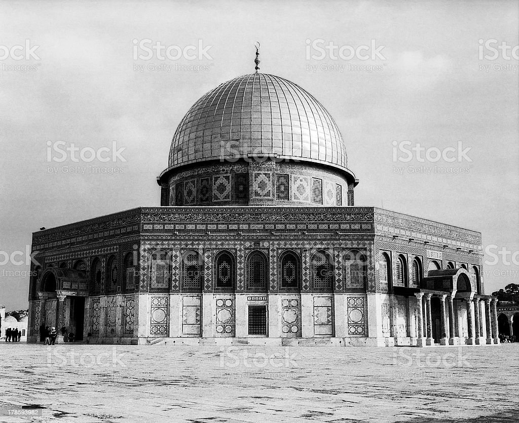 Dome Of The Rock Shrine royalty-free stock photo