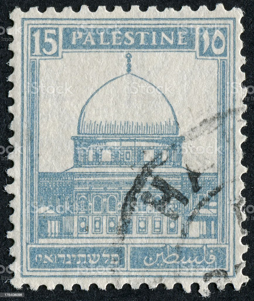 Dome Of The Rock Stamp royalty-free stock photo