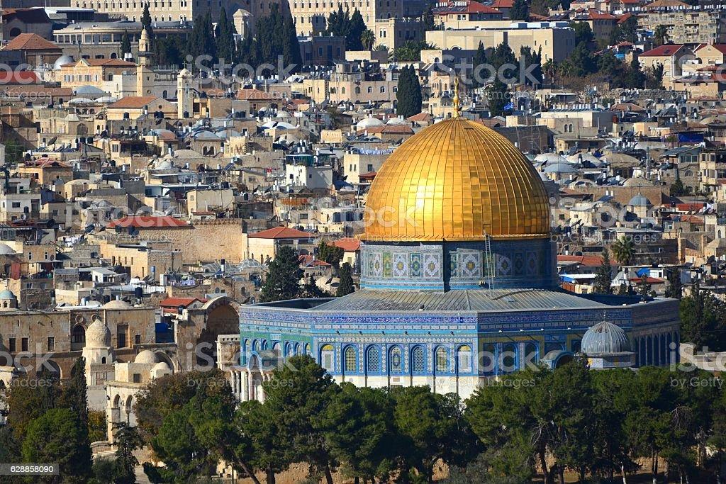 Dome of the Rock, Temple Mount, Jerusalem stock photo