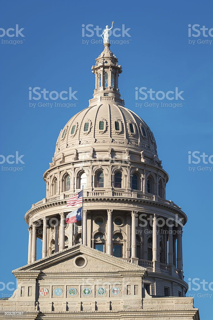 Dome of the Texas State Capitol in Austin royalty-free stock photo