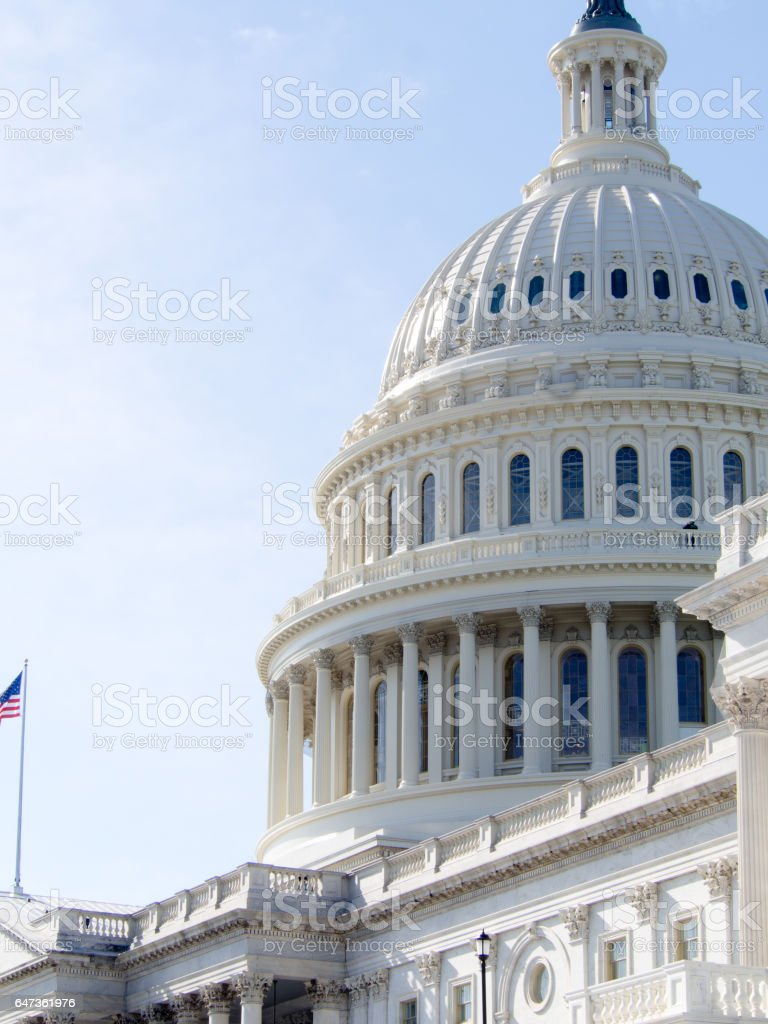 Dome of the US Capitol Building in Washington DC stock photo