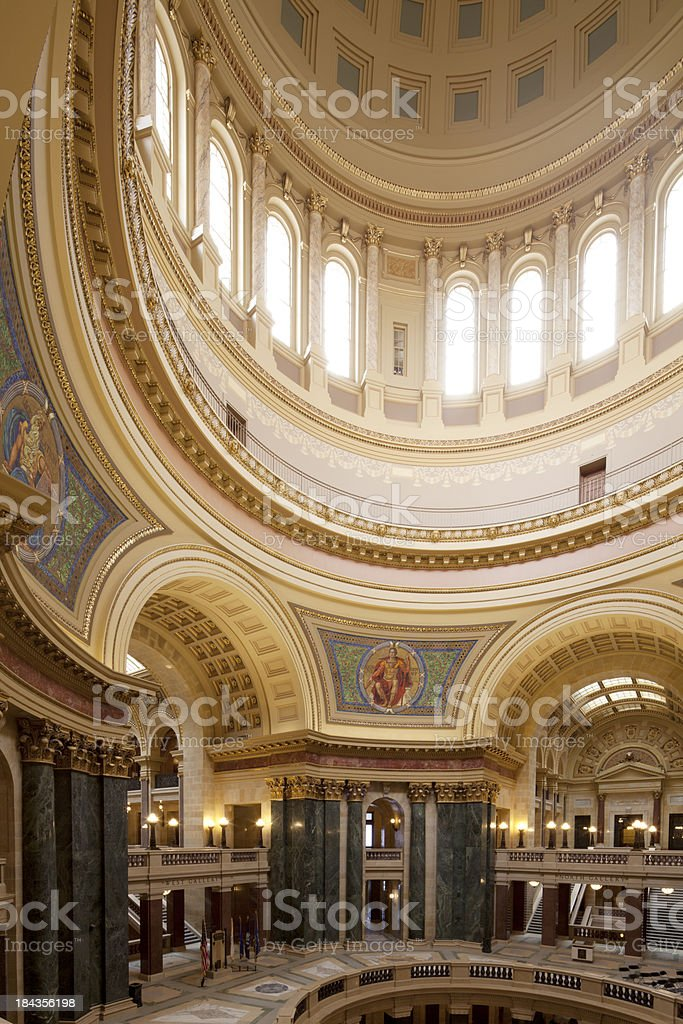 Dome of the Wisconson State Capitol royalty-free stock photo