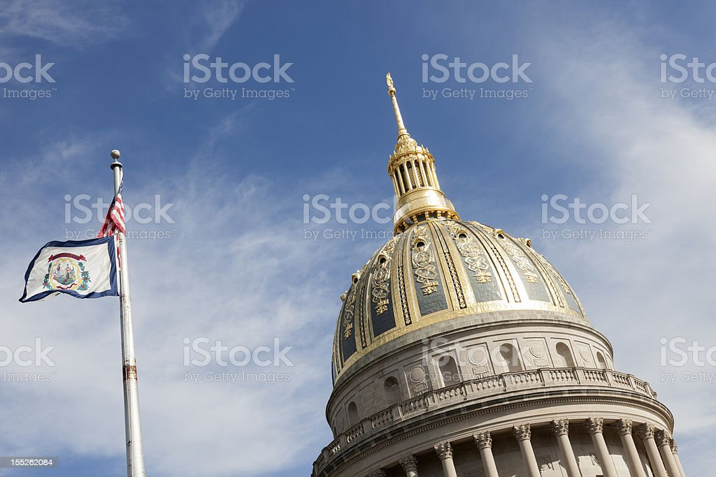 Dome of West Virginia State Capitol Building royalty-free stock photo