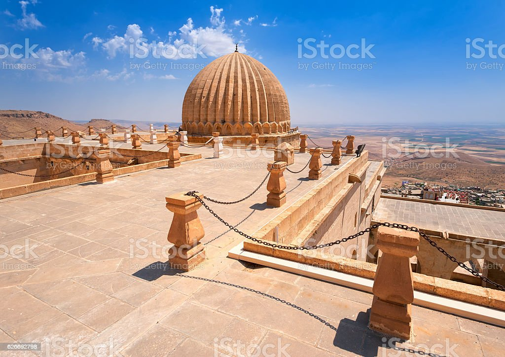 Dome of Zinciriye Medrese, Mardin, south east Turkey stock photo
