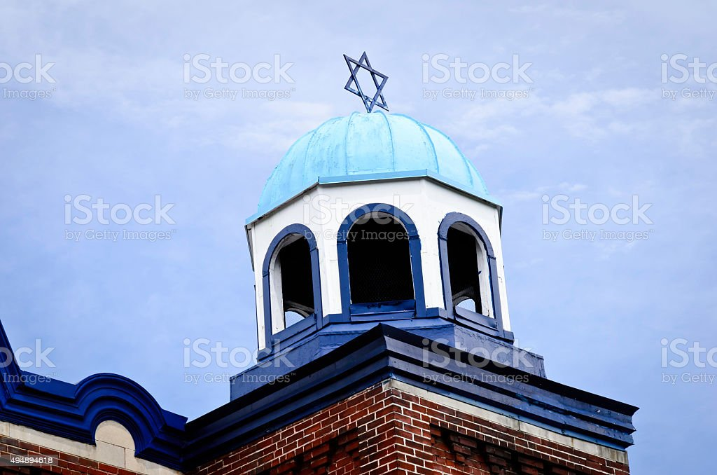 Dome on a synagogue with the star of David royalty-free stock photo