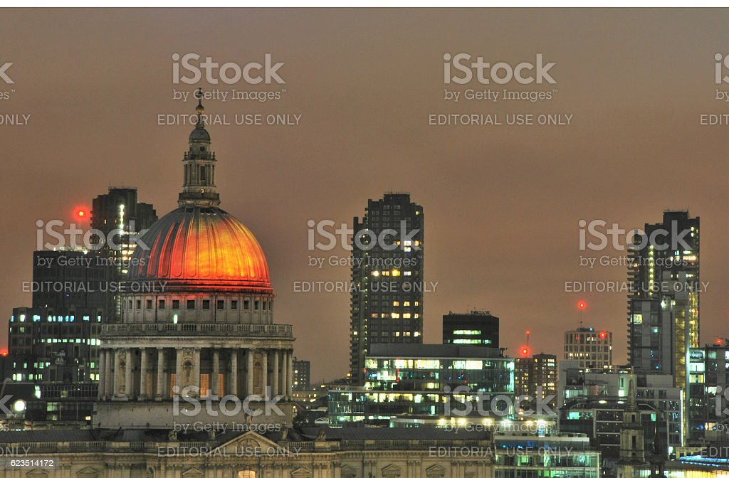 Dome on Fire stock photo