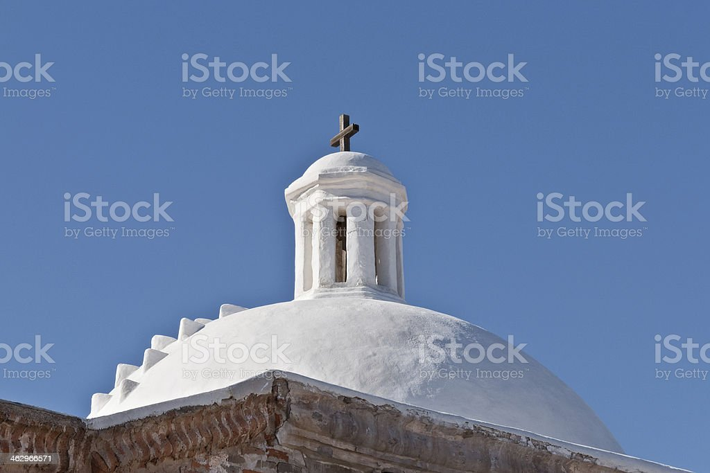 Dome on the Mission San Jose de Tumacacori stock photo