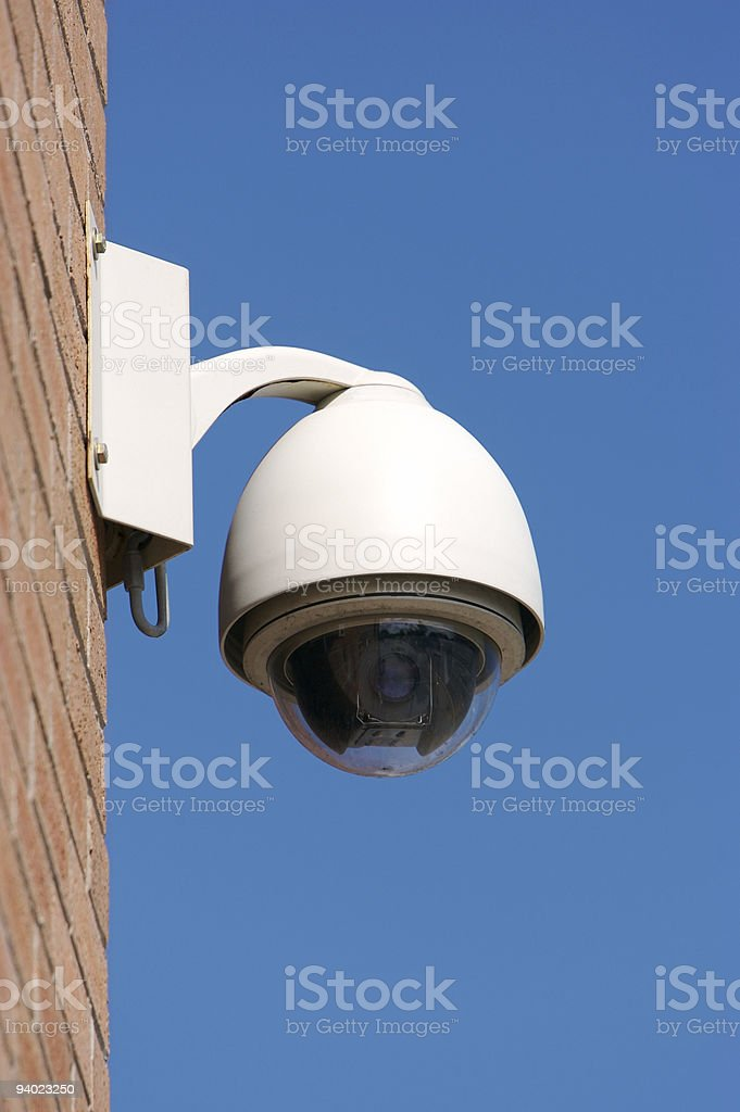 CCTV Dome royalty-free stock photo