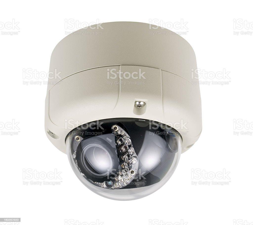 Dome Security Camera with IR illuminator royalty-free stock photo