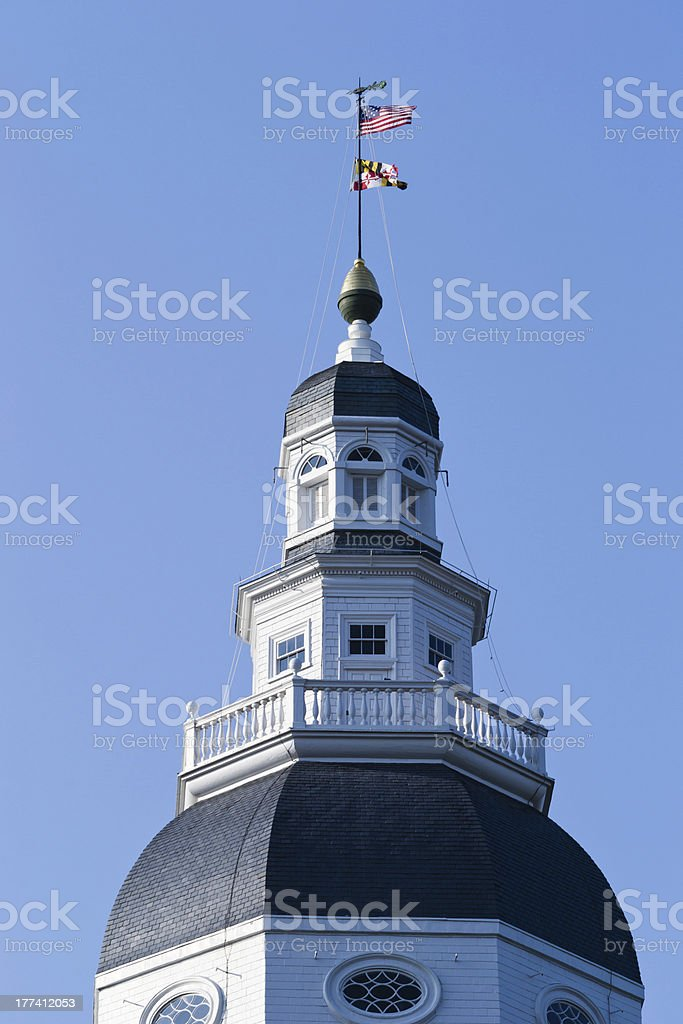 Dome & Star Spangled Banner stock photo