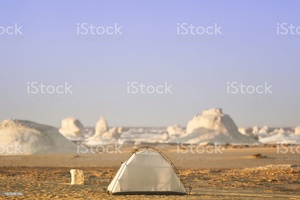 Dome Tent in the Desert royalty-free stock photo