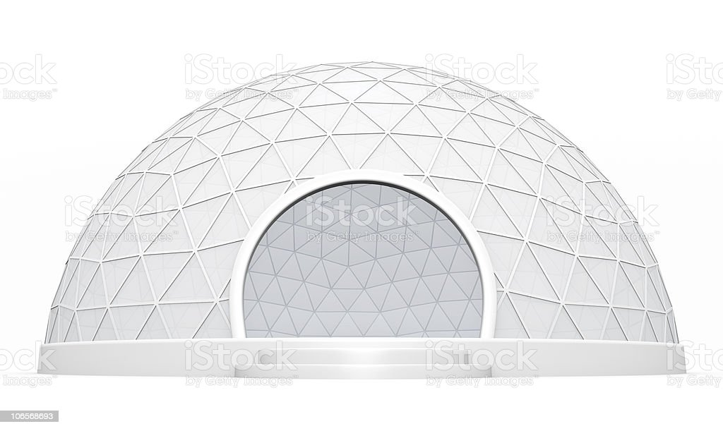 Dome tent stock photo