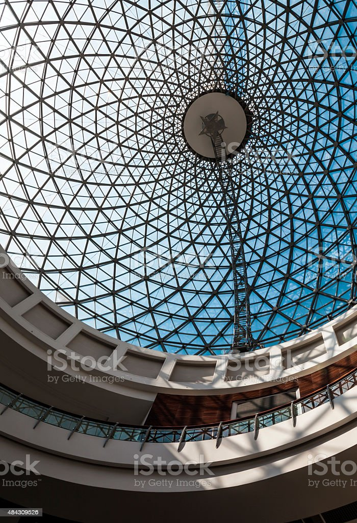Dome with glass ceiling stock photo