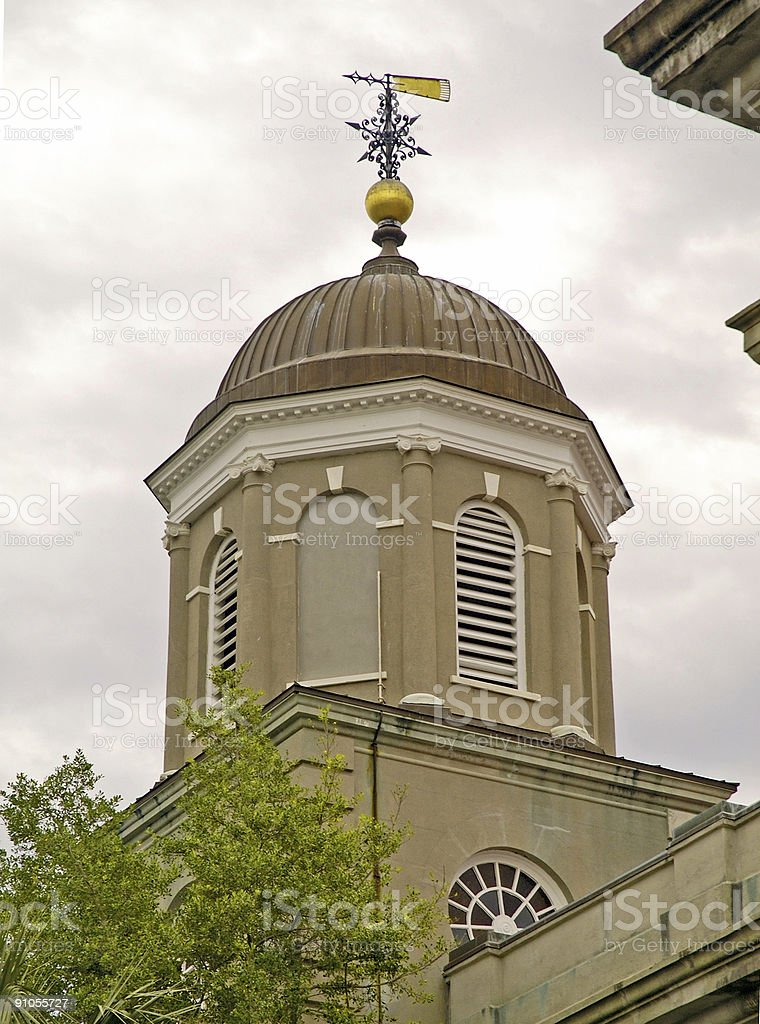 Domed Church Roof and Weathervane royalty-free stock photo