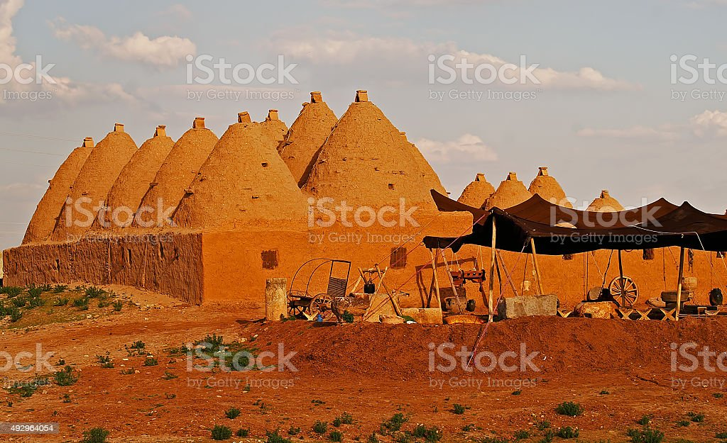 Domed Houses in Harran Sanliurfa/Turkey stock photo