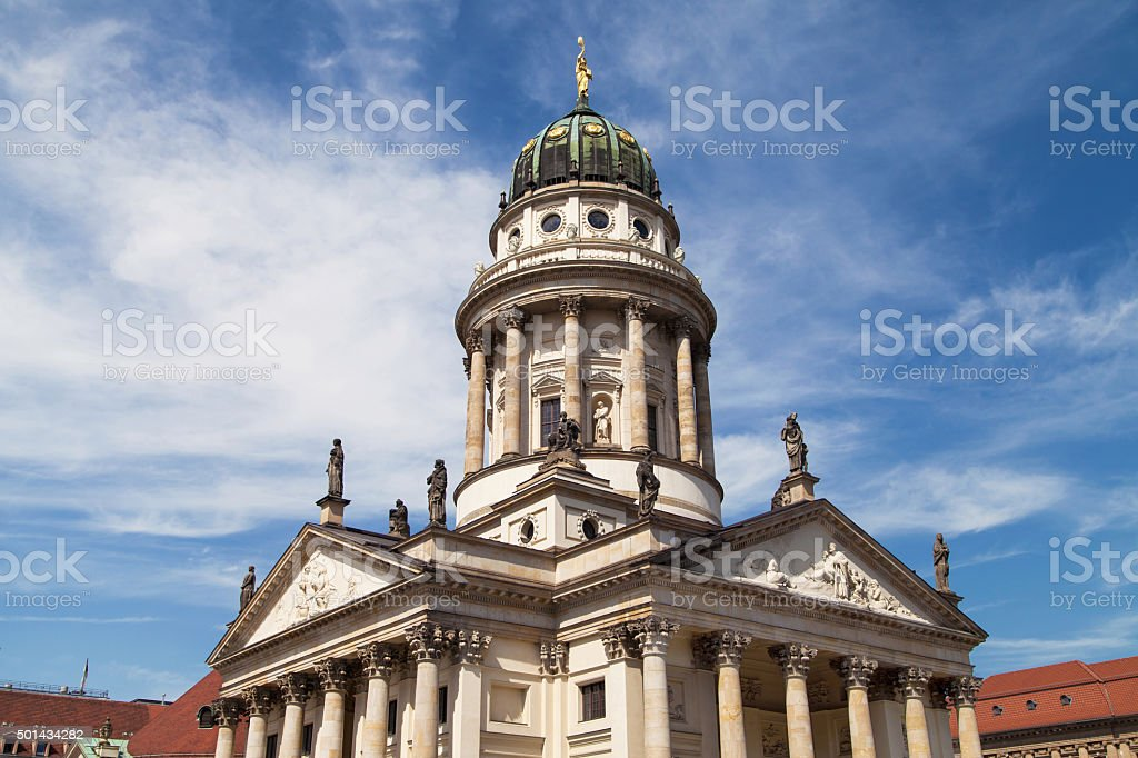Domed tower of the French Cathedral stock photo