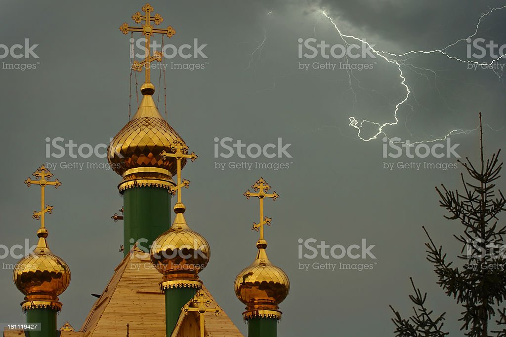 Domes and Lightning royalty-free stock photo