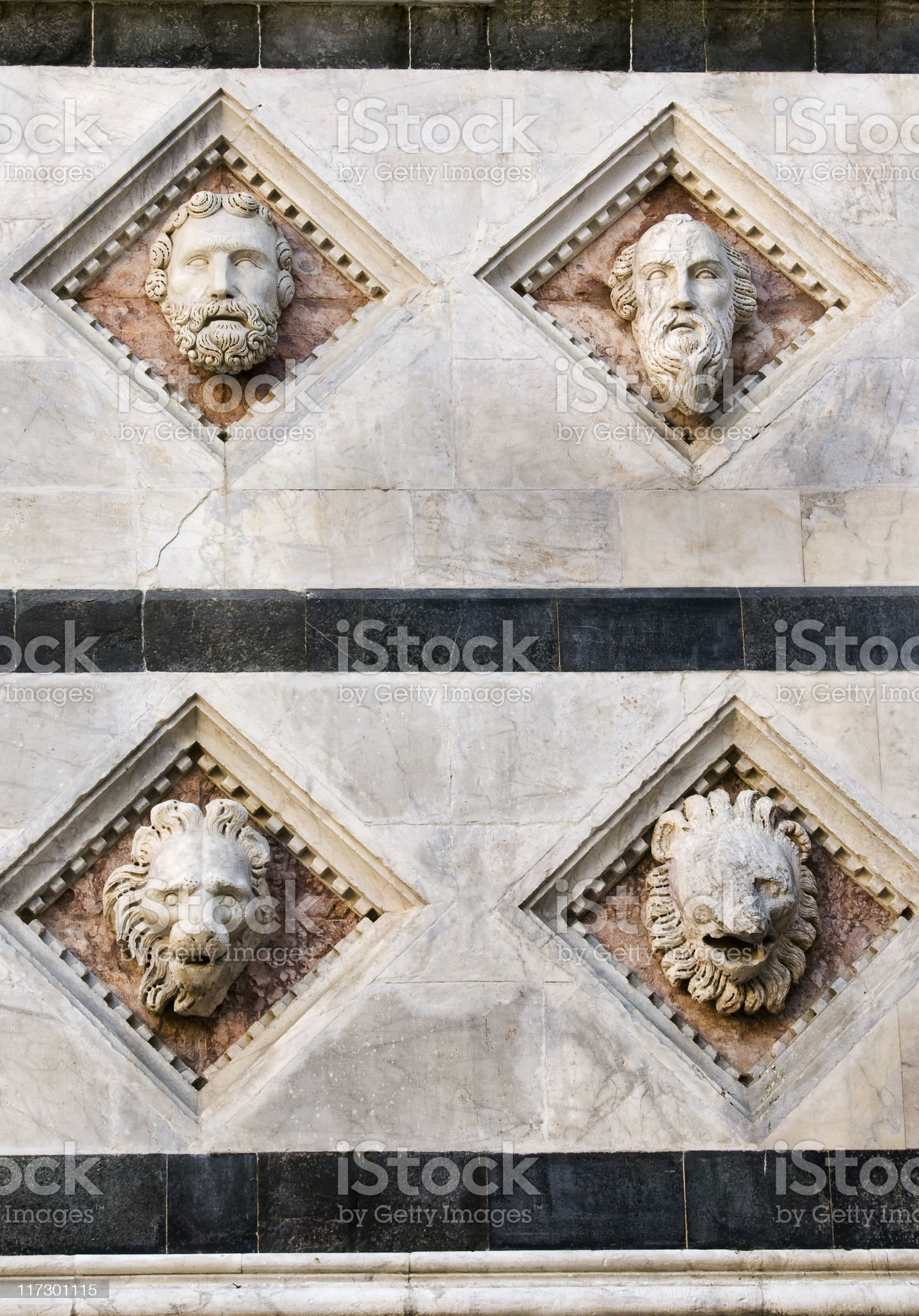 Dome's facade detail royalty-free stock photo