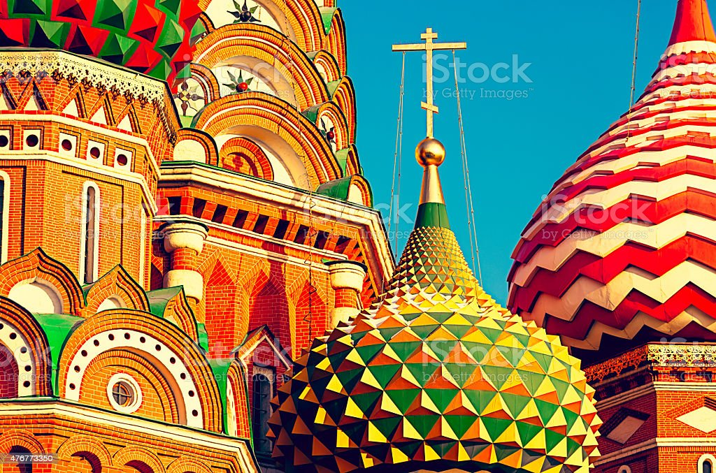 Domes of St. Basil's Cathedral stock photo
