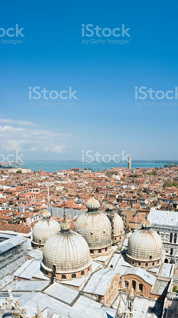 Domes of the Basilica Venice royalty-free stock photo