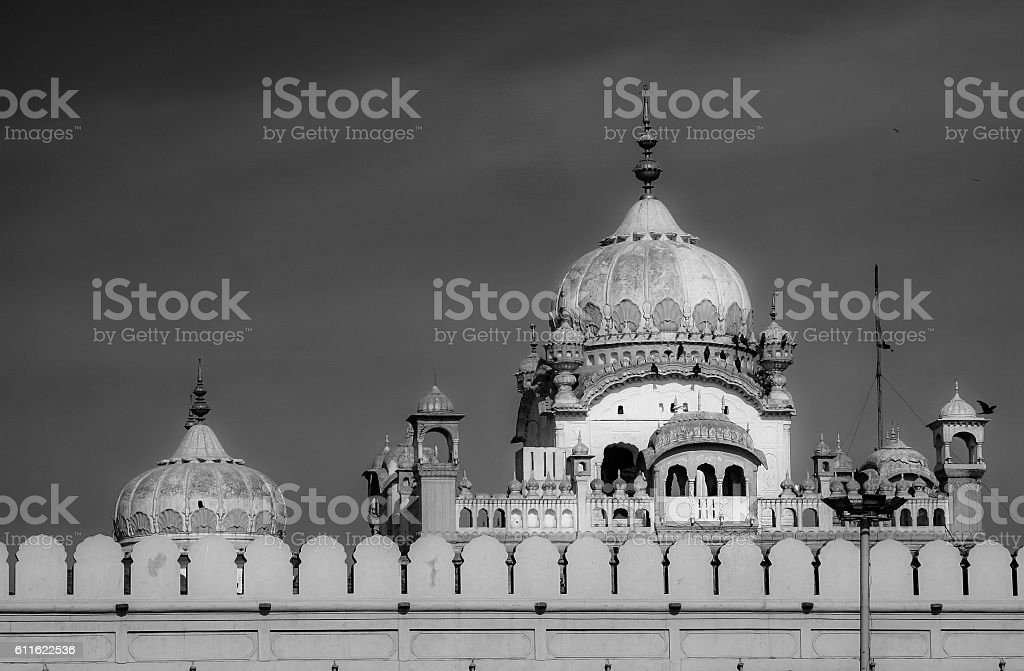Domes of the Lahore Fort stock photo
