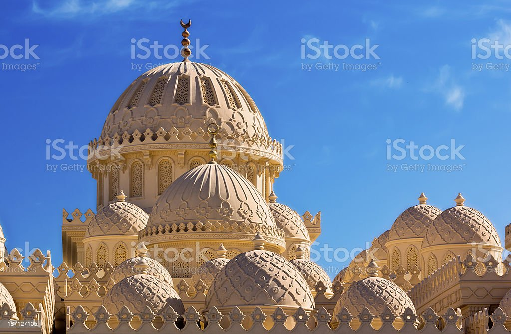 Domes of the mosque stock photo
