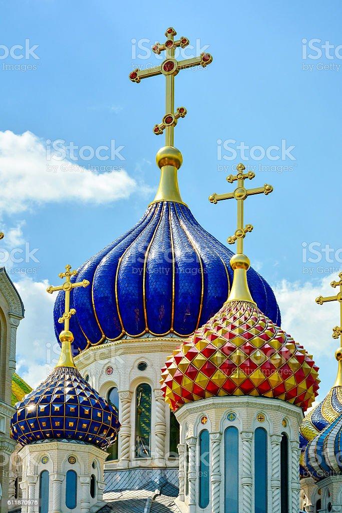 Domes Peredelkino, Russia stock photo