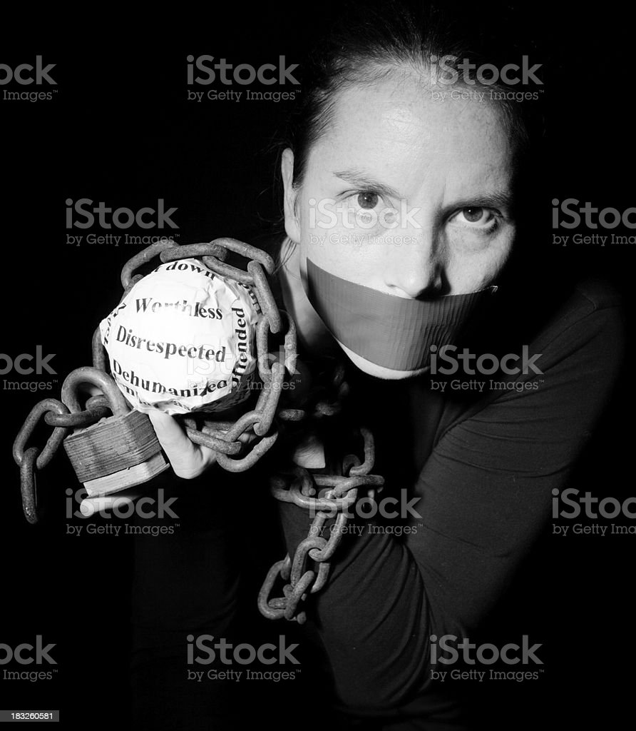 Domestic Abuse Awareness royalty-free stock photo