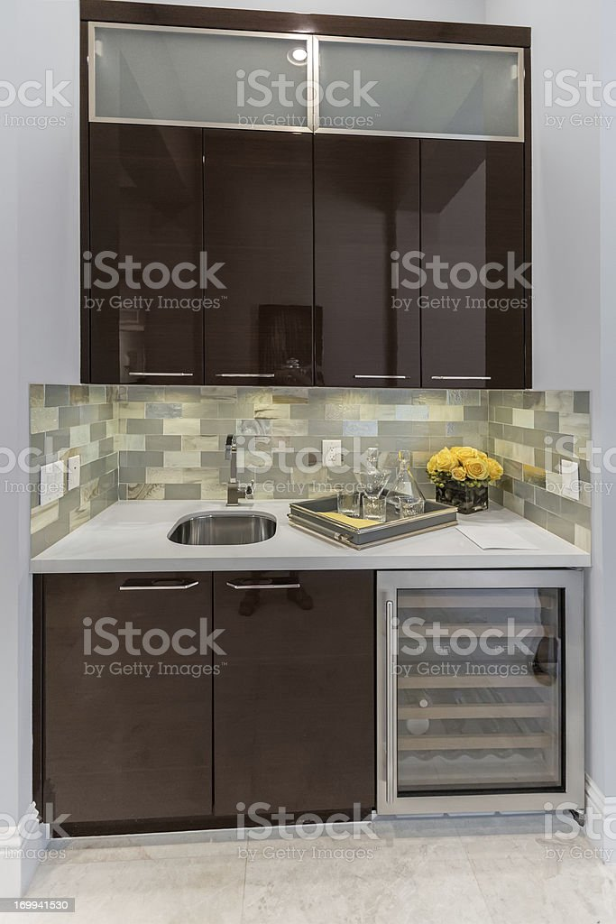 Domestic Bar in a home stock photo