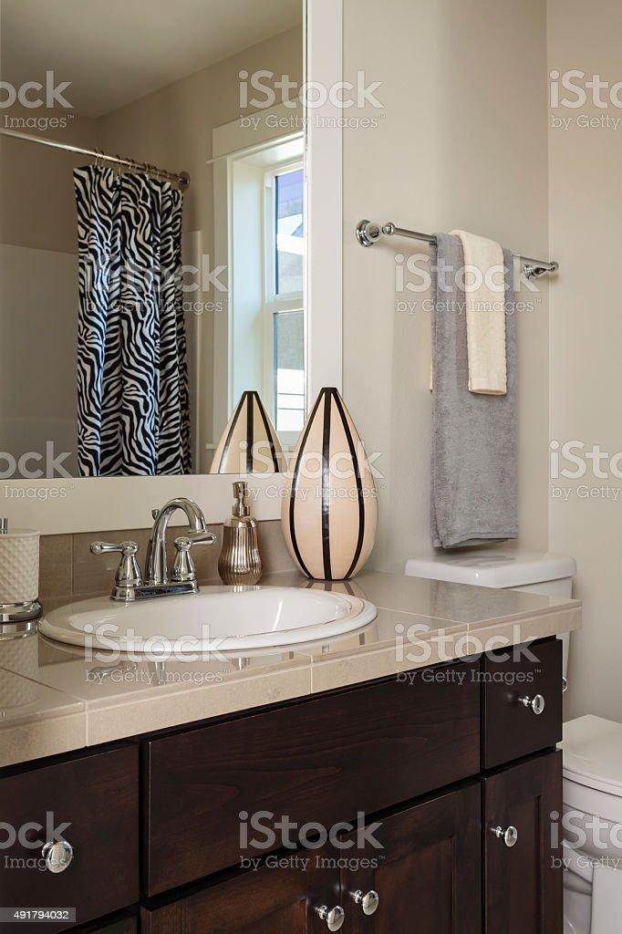 Domestic bathroom stock photo