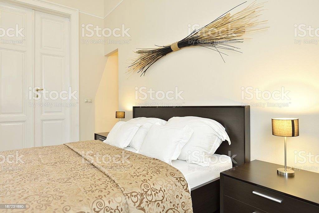 Domestic bedroom royalty-free stock photo