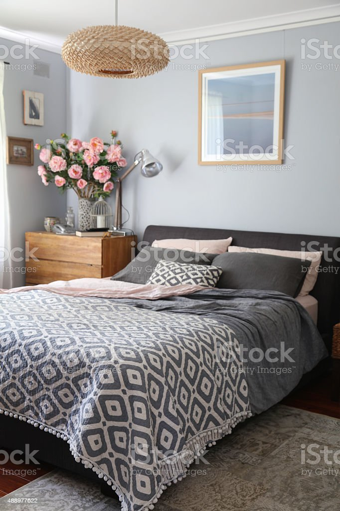 Domestic Bedroom stock photo