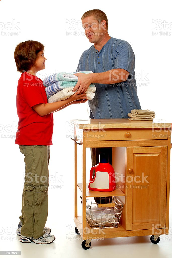 Domestic Clean Team royalty-free stock photo