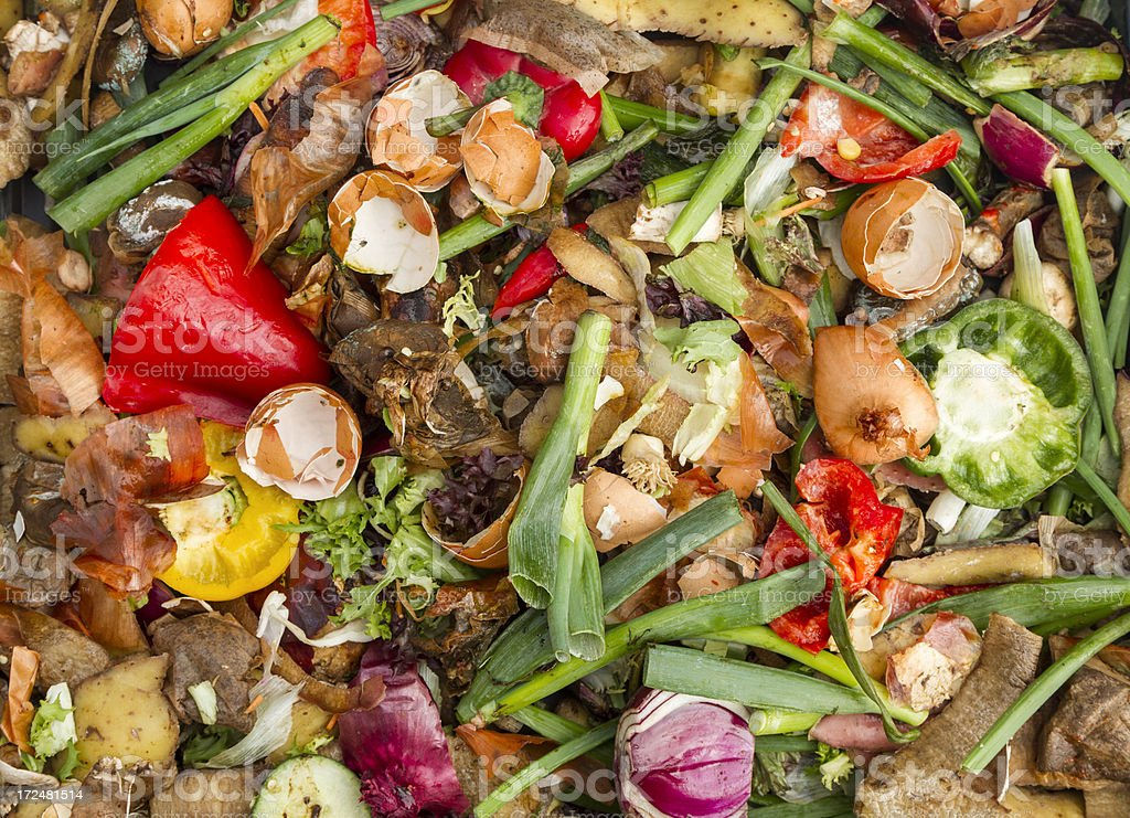 Domestic compost heap royalty-free stock photo