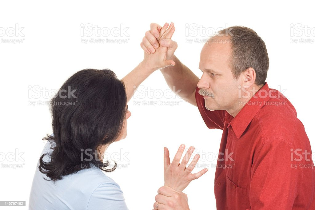 Domestic conflict royalty-free stock photo