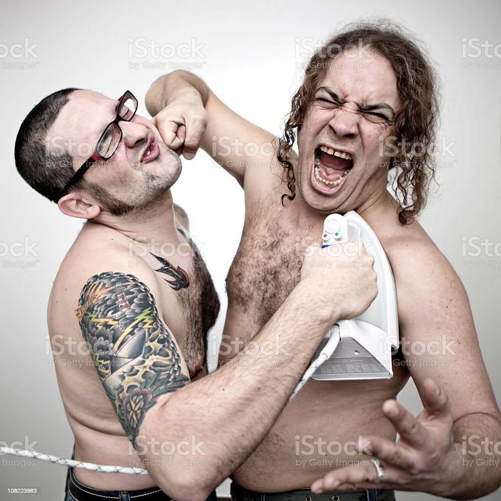 Domestic fighting royalty-free stock photo