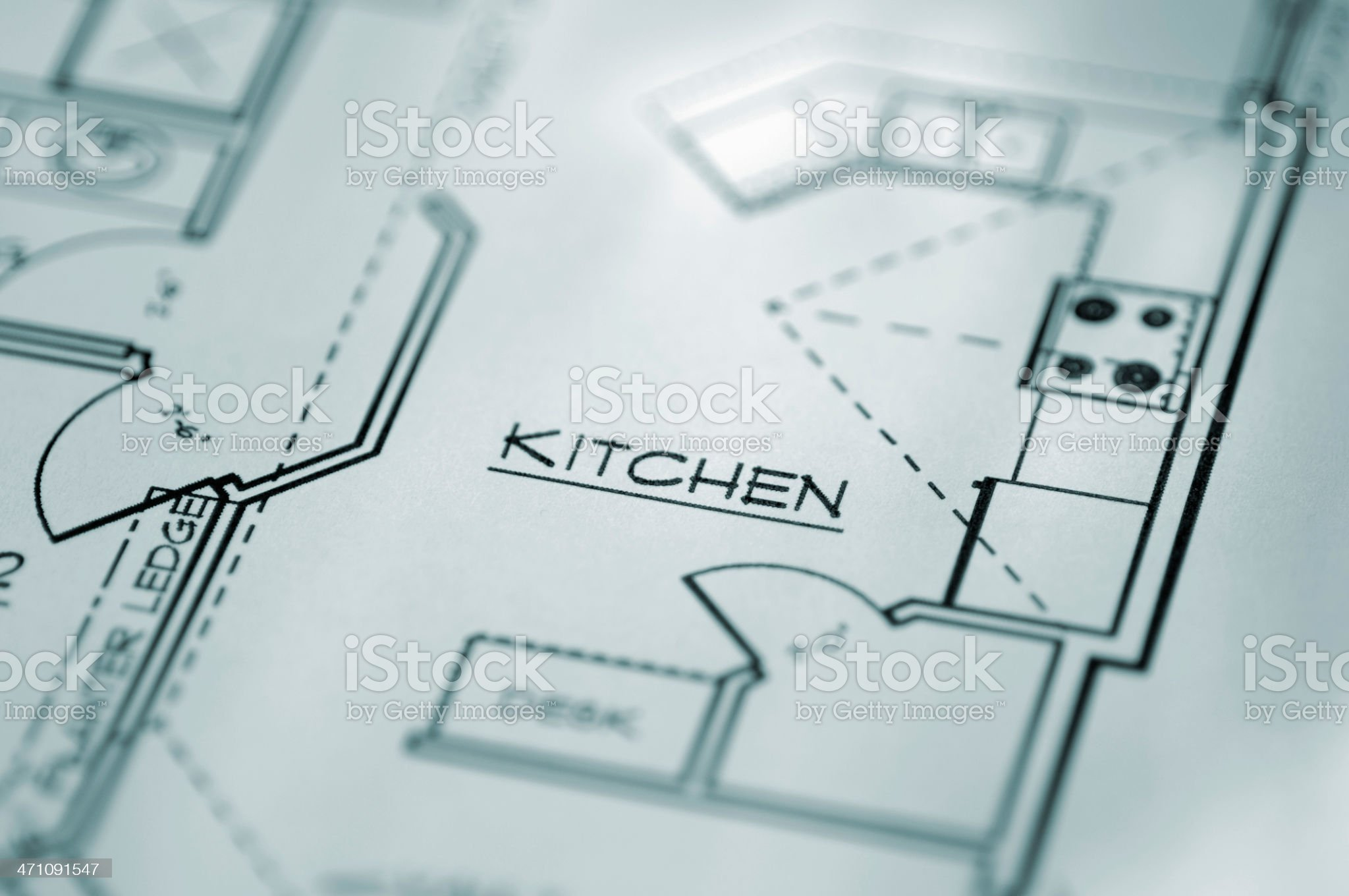Domestic House Architectural Plans royalty-free stock photo