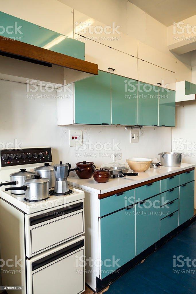 Domestic Kitchen 1960s stock photo
