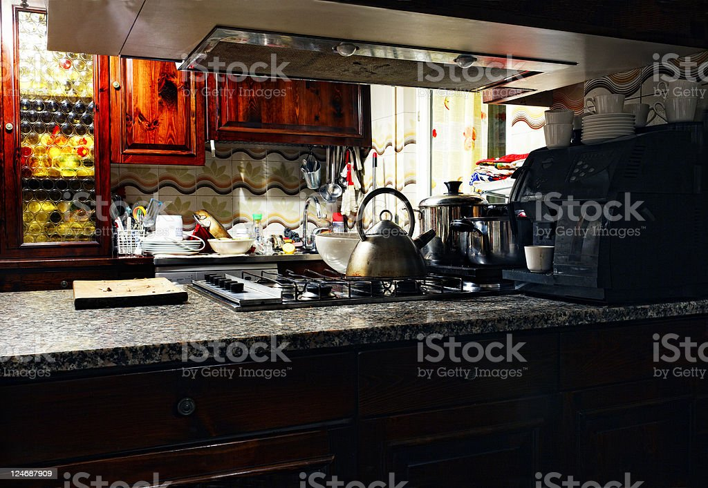 Domestic Kitchen. Color Image royalty-free stock photo