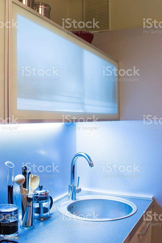 Domestic Kitchen modern interior royalty-free stock photo