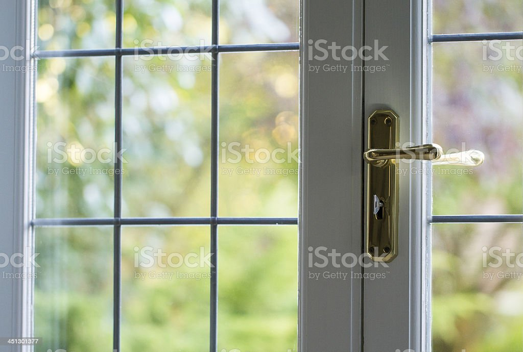 Domestic locked door stock photo