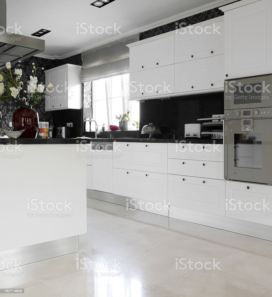 Domestic modern kitchen royalty-free stock photo