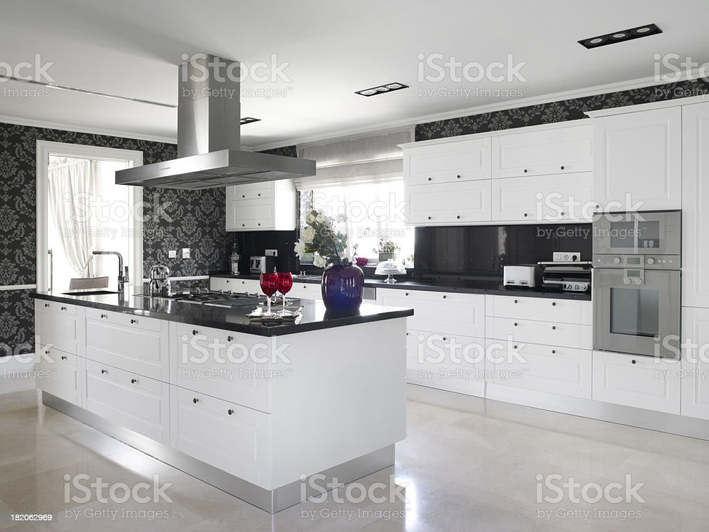 Domestic modern kitchen royalty-free stock photo
