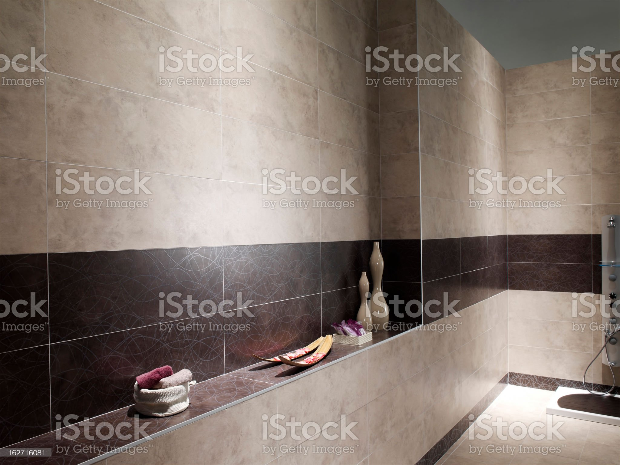 Domestic new bathrooms royalty-free stock photo
